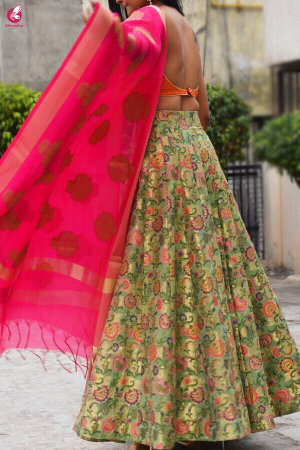 Multicolour Brocade Lehenga