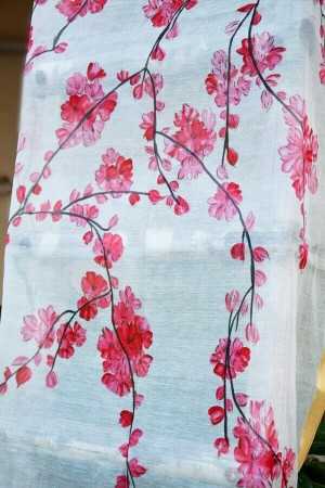 The Pink Japanese Cherry Blossom Statement Stole