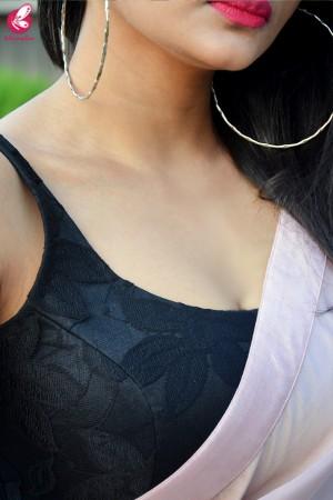 Pinkish Mauve Satin Dupion Silk Taping saree