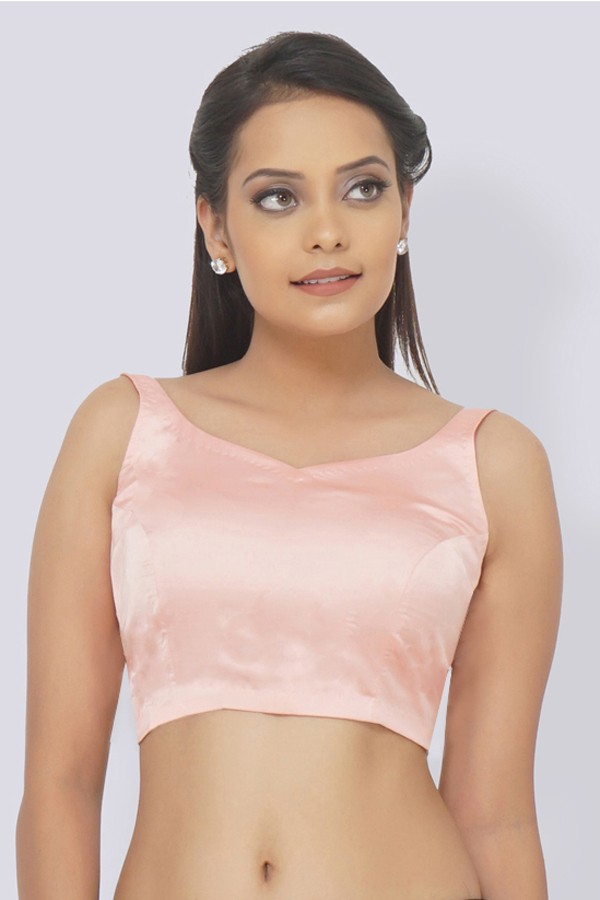 Pastel Pink Satin Padded Blouse